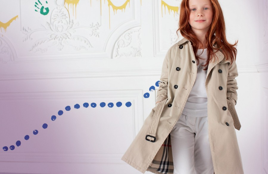 trench burberry mode enfant