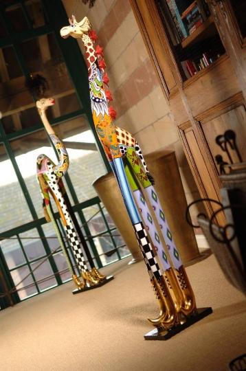 Objet d'art girafe statue Roxanna