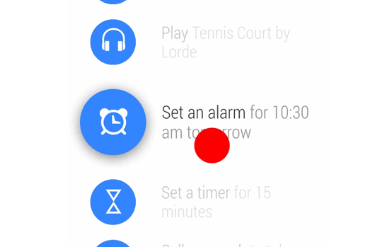 Smartwatch alarme
