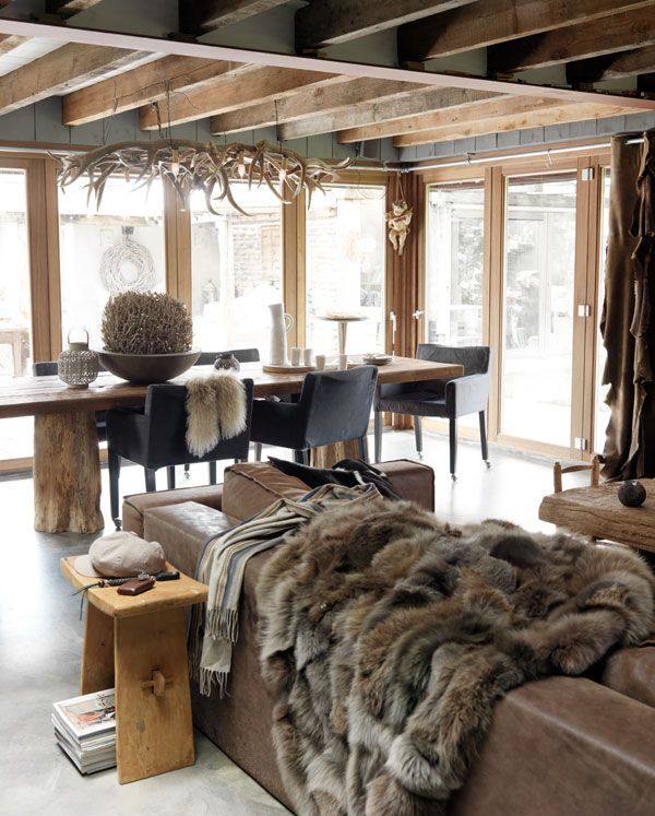 le style chalet et la d co montagne weegora. Black Bedroom Furniture Sets. Home Design Ideas