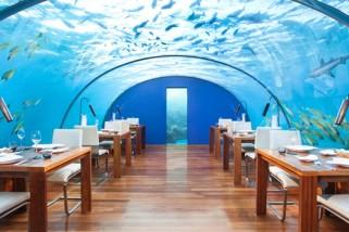 Ithaa, le restaurant-aquarium des Maldives